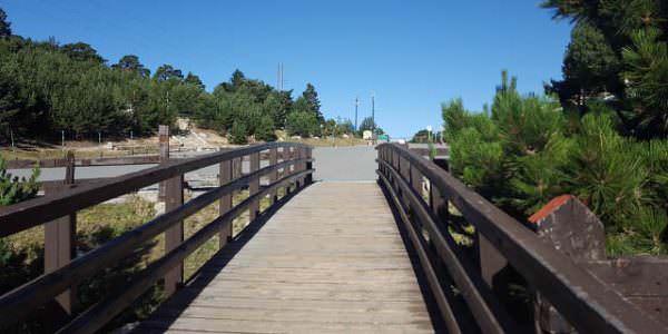 Puente en la ruta a la poza de Sócrates