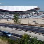 Los aparcamientos del Wanda Metropolitano ya se usan como disuasorios