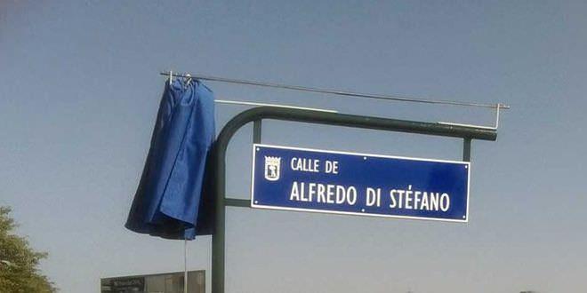 Calle Alfredo di Stefano en Valdebebas