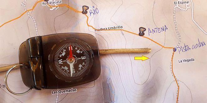 Uso básico de una brújula en senderismo