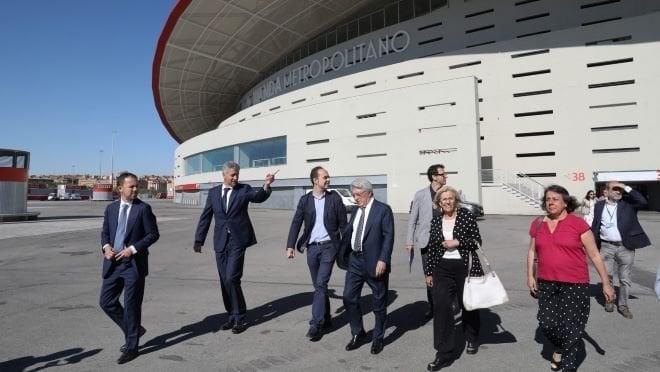 Final Champions Wanda visita Carmena y Cerezo