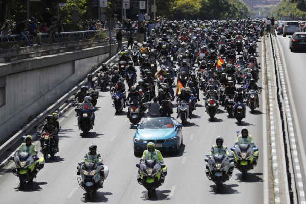 Peregrinación motera al circuito de Jarama. Foto por EFE.