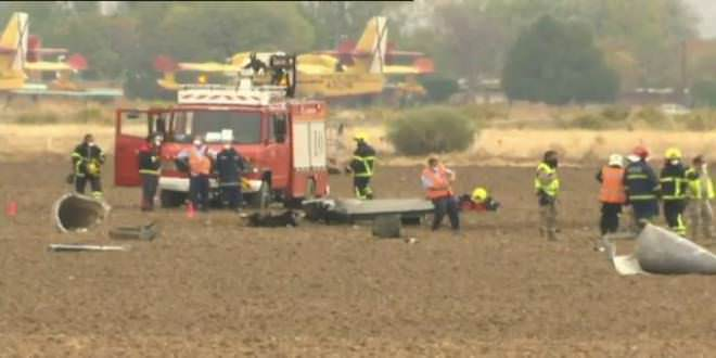Accidente de avión en la base de Torrejón de Ardoz.