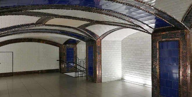 Antiguo vestíbulo del Metro Pacífico