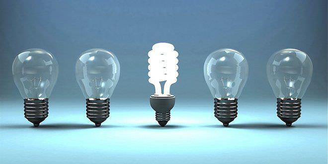 Bombillas bajo consumo para ahorro luz