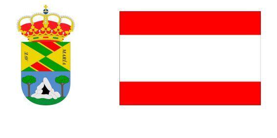 collado mediano escudo y bandera