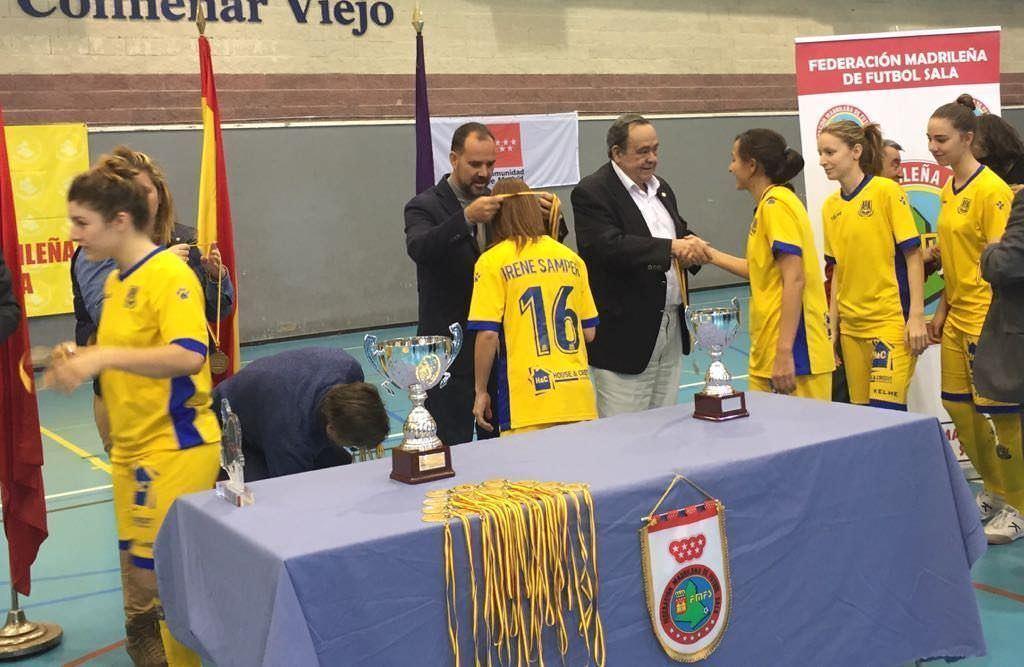 Subcampeonas-Trofeo Comunidad de Madrid FSF