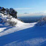 Cerro San Pedro, con nieve: un 'cerro isla' en la Sierra de Guadarrama