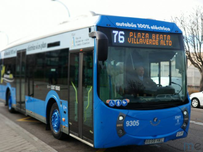 línea 76 autobuses eléctricos