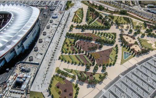 proyecto ajardinamiento wanda metropolitano