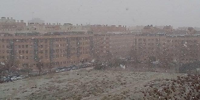 nieve en Madrid febrero 2018