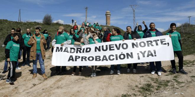 Protestas por el retraso de Madrid Nuevo Norte