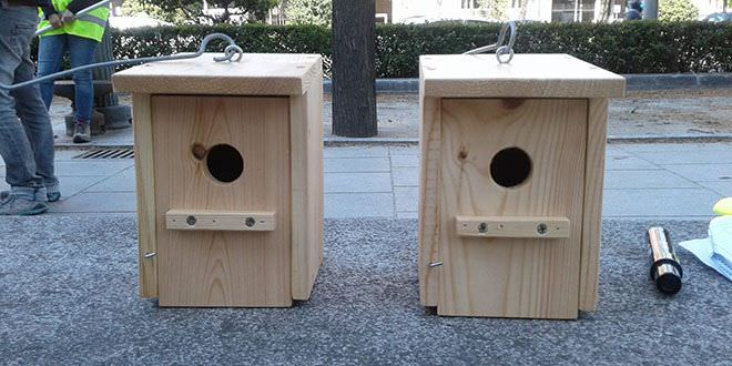 Cajas nido de madera en Madrid