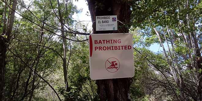 Pedriza baño prohibido