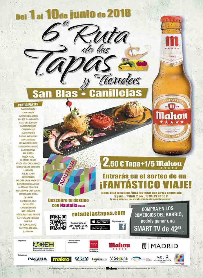Ruta Tapa San Blas 2018 cartel