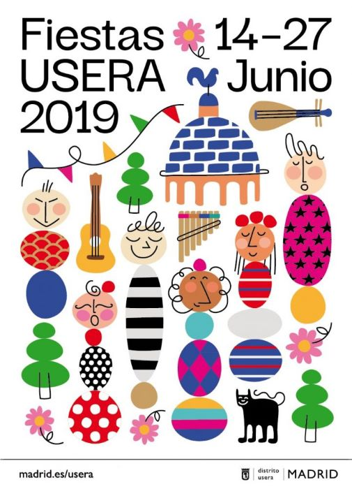 fiestas usera cartel 2019