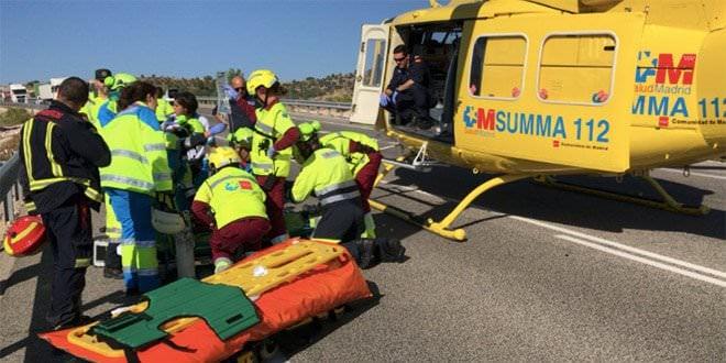 Accidente Valdelaguna Helicóptero SUMMA 112