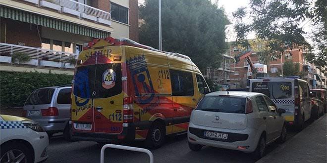 Accidente laboral Ambulancia 112 Ciudad Lineal
