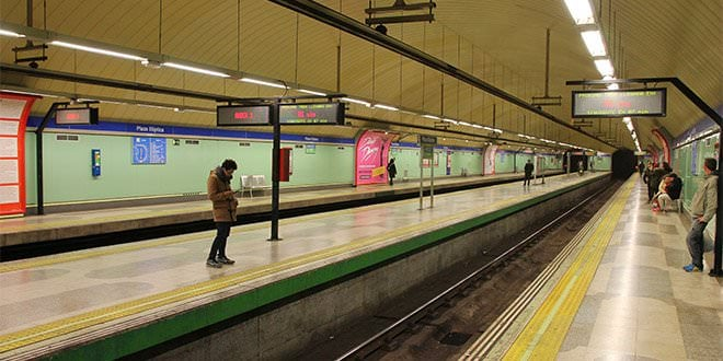 Plaza Elíptica Andenes Metro Madrid