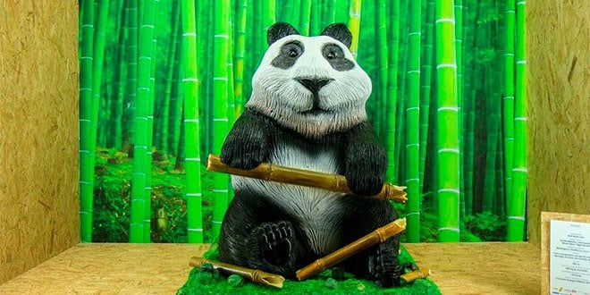 Salón Internacional de Chocolate Figura Panda