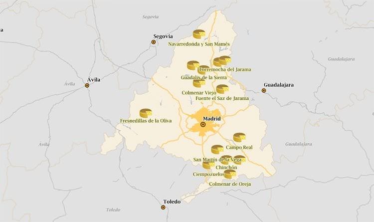 ruta quesos mapa