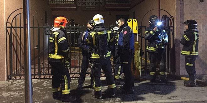 Incendio Entrevías Samur Bomberos Madrid