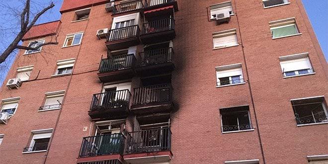 Incendio Entrevías Edificio Fuego Humo