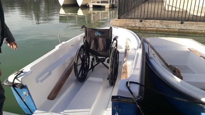 barcas para sillas de ruedas en el retiro