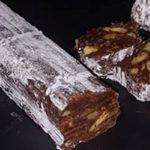 Receta dulce de salchichón de chocolate