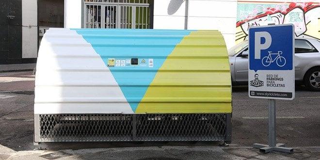 bicihangar aparcamiento bicicletas calle calatrava