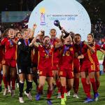 Homenaje en Madrid a las campeonas del mundo de fútbol sub-17