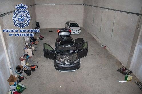 Robo vehículos Polonia Policía Madrid