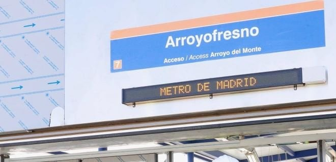 metro Arroyofresno cartel