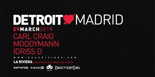 Cartel La Riviera Detroit Madrid