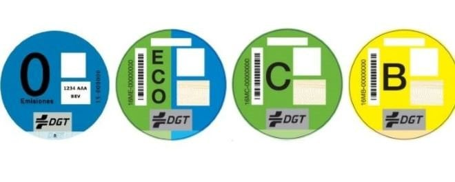 distintivos ambiental DGT