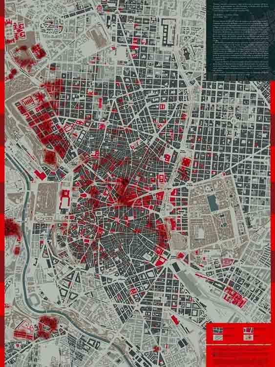mapa bombas madrid obus guerra civil politecnica