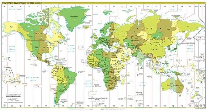 plano huso horario mundial