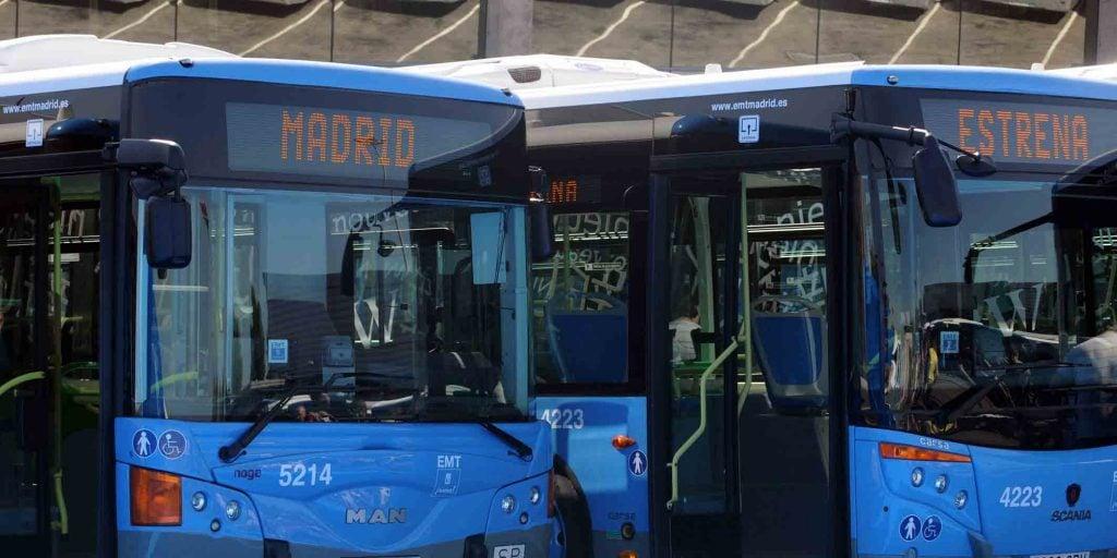 Autobuses EMT servicio especial
