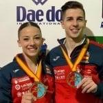 Lidia Rodríguez y Sergio Galán, campeones de Europa en kata