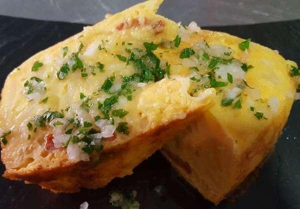 tortilla de patatas al horno con chorizo receta