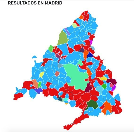 Municipios madrid 2019