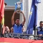 Celebración del ascenso del Fuenlabrada a Segunda División