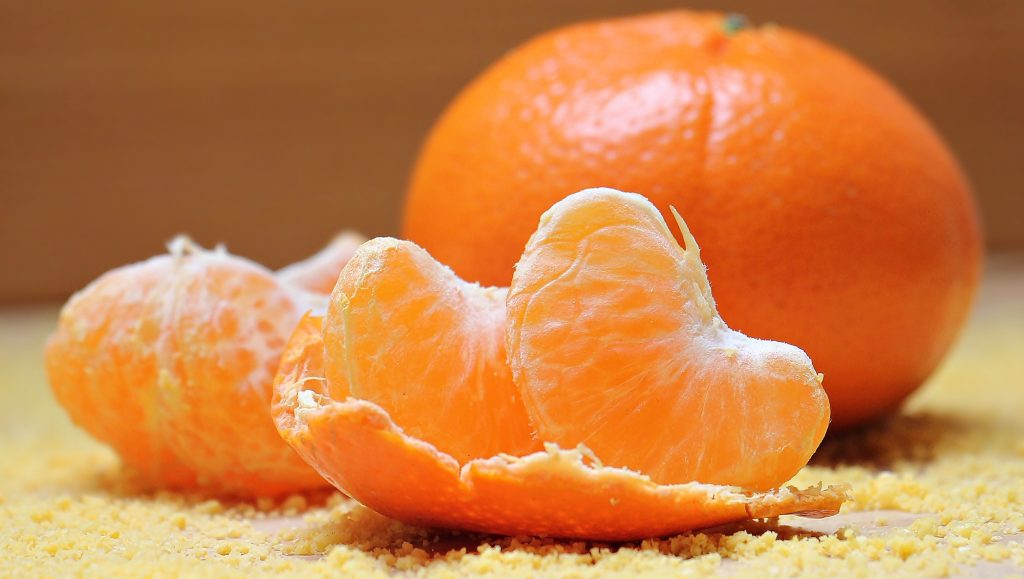 piel alimentos mandarina