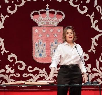 Marta Rivera en la toma de posesión