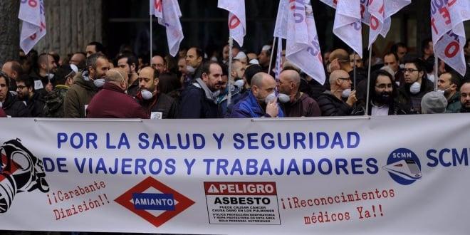 crisis amianto en metro de madrid