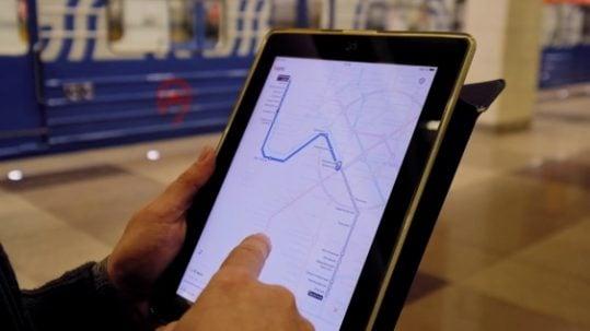 tableta en metro de madrid