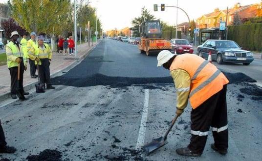 Trabajo de asfaltado en Madrid