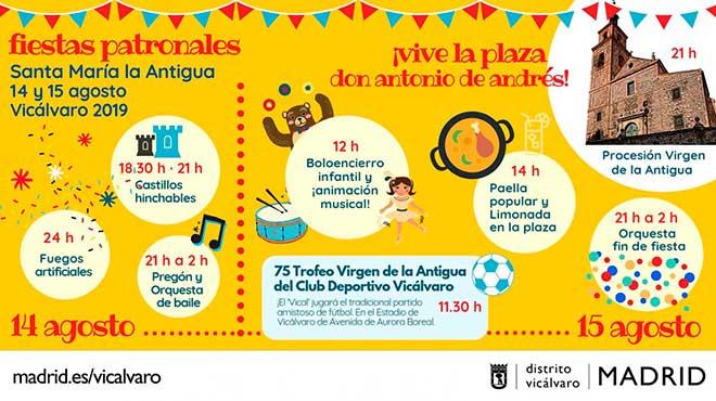cartel fiestas patronales vicálvaro