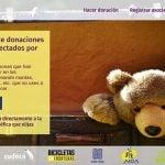 Donaciones para los afectados por las inundaciones de la gota fría