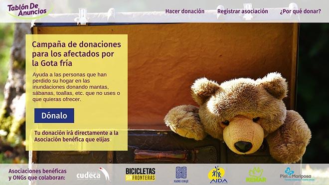 donaciones afectados inundaciones